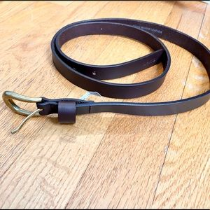 Levi's brown leather belt gold buckle